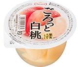 [たらみ] ごろっと果実大ぶりカット白桃 250g x 6個