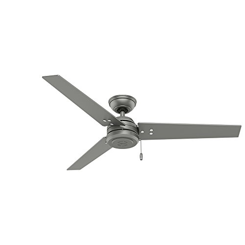 Hunter Fan Company 59262 Contemporary Cassius Matte Silver Ceiling Fan, 52