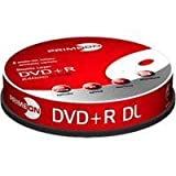 "Primeon DVD+R Double Layer 8X DVD-Rohlinge 240min / 8,5GB White-Ink Fullsize Printable 10er Spindelvon ""PRIMEON Media GmbH"""
