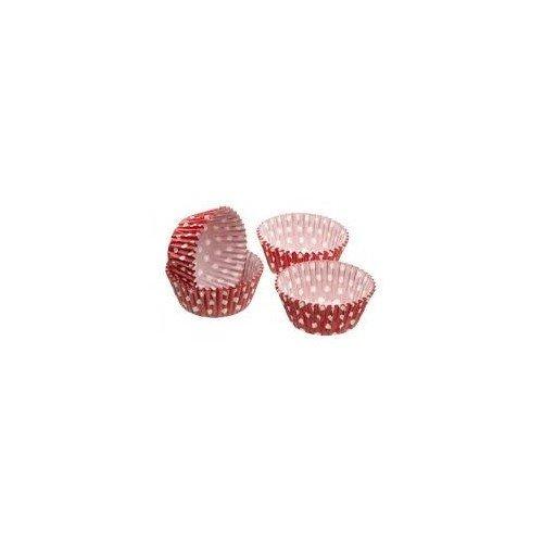 Kitchen Craft - Capsulas Cupcake, Color Roja-Lunares, 60 Unids