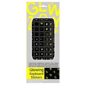 Funkeyboard Designer Keyboard Sticker - Glowing YellowB001D1A2Y4