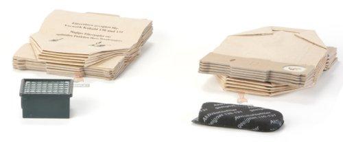 DREHFLEX® - Alternativa per aspiratori Vorwerk - Set di 22 articoli: 20 sacchetti di carta per aspirapolvere , 1 Filtro HEPA , 1 filtro motore in carbone attivo, per Kobold VK 130/131, DREHFLEX®