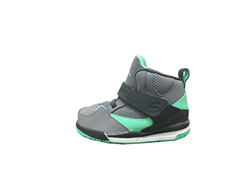 Jordan Flight 45 High GT Cement Grey/White-Dark Grey-Green Glow (Infant/Toddler) (8 M US Toddler)