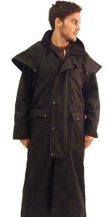 Campbell Cooper Australian Long Stockmans Wax Cotton Jacket - Black - X-Small