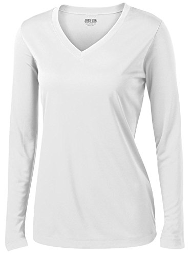 Joe's USA(tm) - Ladies Long Sleeve Moisture Wicking Athletic Shirts in Medium