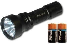 B2 Super Bright Flashlight - Luxeon Led K2 Incl 2 Cr123 Duracell Lithium Batteries