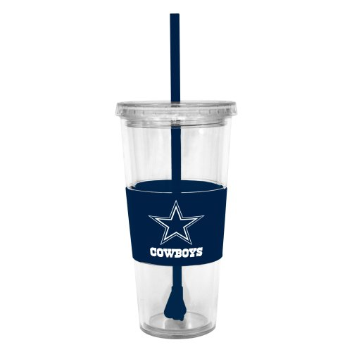 NFL Dallas Cowboys Lidded Cold Cup with Straw at Amazon.com