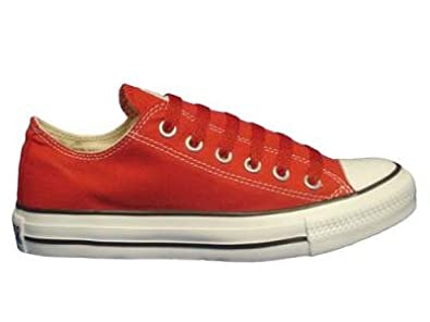 Converse Chuck Taylor All Star Lo Top Red Canvas Shoes with Extra Pair of Red Laces men's 11