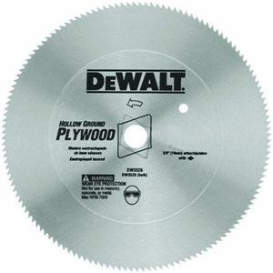 DEWALT DW3372 10-Inch 80 Tooth Hollow Ground Planer Steel Saw Blade with 5/8-Inch and Diamond Knockout Arbor