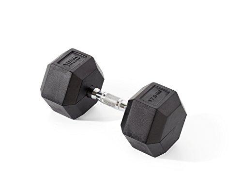 york-fitness-halteres-hexagonales-en-caoutchouc-mixte-rubber-hex-noir