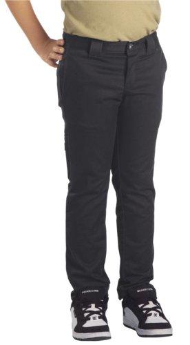 Dickies Big Boys' Skinny Straight Pant, Black, 8 (Boys Black Pants compare prices)