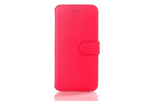 Iphone 6 Phone Case Borch Fashion Multi-Function Wallet For Iphone 6 Case Luxury Genuine Leather Carrying Case Cover With Credit Id Card Slots/ Money Pockets Flip Leather Case For Iphone 6 4.7 Inch Borch Screen Protector (Red)