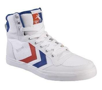 HUMMEL STADIL CAN CANVAS TRAINERS WHITE/BLUE 36