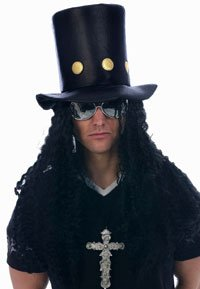Slash Guns N Roses 80s Top Hat with attached wig.