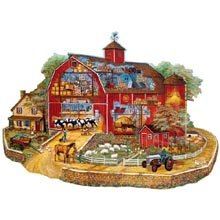 Cheap Herrschners Shaped Barn Jigsaw Puzzle, 300 pieces (B0048L2E1K)
