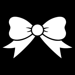 Amazon.com: Bow Tie Sticker Vinyl Car Decal Sticker White 4
