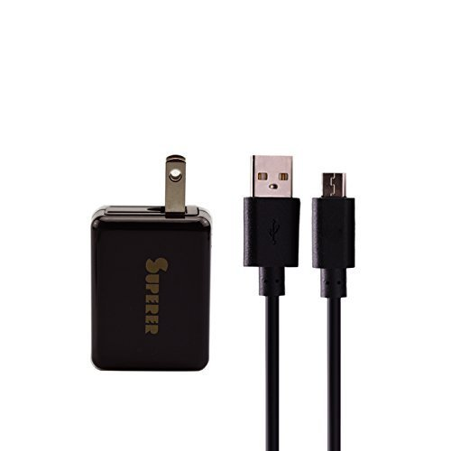 Superer AC Charger for Samsung Galaxy Tab A 7.0 9.7 10.1 inches SM-T387 SM-T280 SM-T580 SM-P580 SM-T580NZKAXAR Tablet with 5 FT Charging Cable