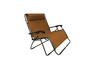 Bliss Hammocks Zero Gravity Loveseat Brown Aoy 8