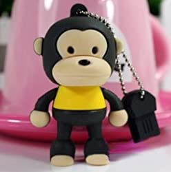 Ricco ® Baby Monkey USB High Speed Flash Memory Stick Pen Drive Disk (16GB BROWN)