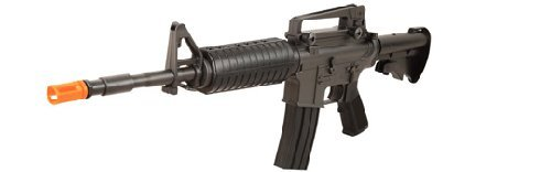 AEG Auto Electric M4A1 Carbine Electric Airsoft Rifle with Adjustable Stock and Rechargeable Battery