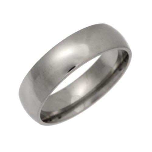 Palladium Wedding Ring, Heavy Weight Court Shape, 6mm Band Width