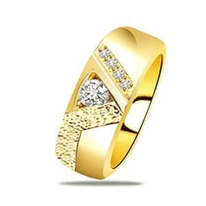 0.09ct Classy Yellow Gold Band with Fine Diamonds
