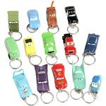Mini Disney Cars Style Car Toy Gadget Model Kit with Keychain for Fans Collection