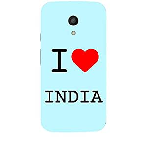 Skin4gadgets I love India Colour - Light Blue Phone Skin for MOTO G 2ND G