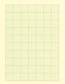 National Brand Computation Pad, Plain and 5 X 5 Quad On Back, Green Paper, 8.5 x 11 Inches, 50 Sheets (42381)