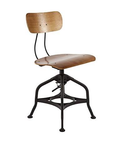 Control Brand The Vreit Side Chair, Natural/Matte Black
