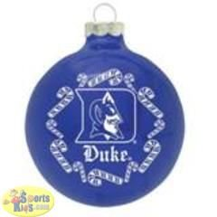 "Duke Blue Devils NCAA Candy Cane Traditional Glass Ball Christmas Ornament- 2 3/4"" at Amazon.com"