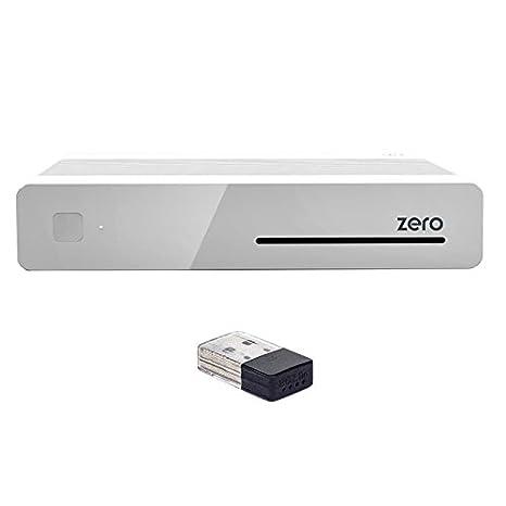 Vu+ ZERO 1 X DVB-S2 Tuner (Mpeg4 HD) blanc + 150Mbit WLAN Stick