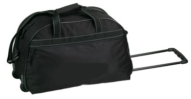 Black Travel Vacation Rolling Duffel Bag w/ Wheels