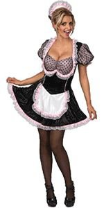 Sequin French Maid Adult Halloween Costume Size 6-10