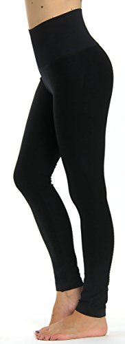 Prolific Health High Compression Women Pants Yoga Fitness Leggings (Medium/Large, Black)