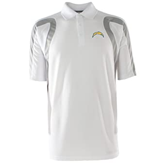 NFL Mens San Diego Chargers Point Desert Dry Polo Shirt by Antigua