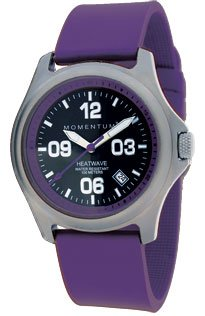 New St. Moritz Momentum M1 Heatwave Women's Dive Watch & Underwater Timer for Scuba Divers with Purple Bezel, Purple Hyper Rubber Band & FREE Watch Protector Valued at $12.95 Value for Added Protection to the Glass Face of Your Dive Watch