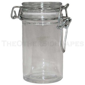 mini wire bale glass jar with clear lid beauty. Black Bedroom Furniture Sets. Home Design Ideas