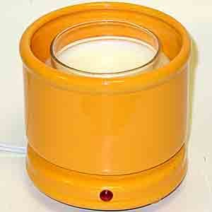 Cachepot Electric Candle Warmer - Citrus , A decorative jar candle holder and candle warmer in one # 49264