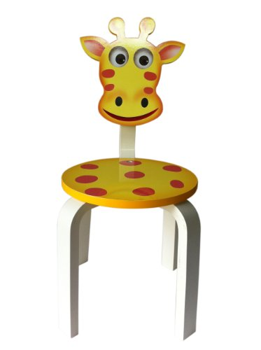 Inskeppa safari collection kid s giraffe wood chair cute - Chaise enfant accoudoir ...