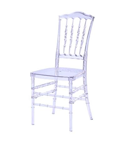 Manhattan Living Acra Dining Chair, Clear