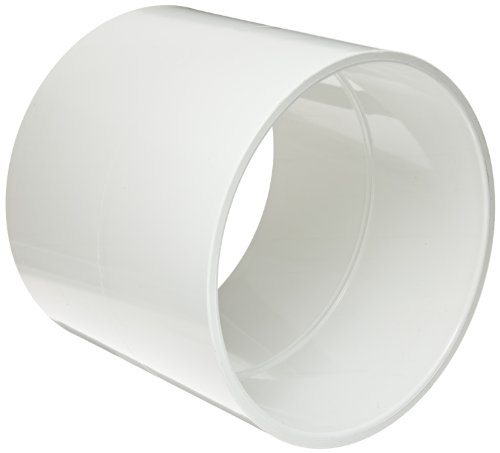 Spears 429 Series PVC Pipe Fitting, Coupling, Schedule 40, White, 1/2&quot; Socket