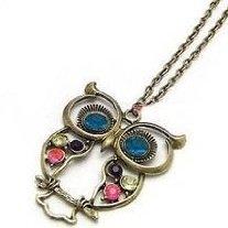 Stone River Jewellery Blue Eyed Bronze Tone Owl