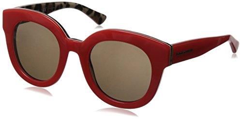 D&G Dolce & Gabbana Women'S 0Dg4235 Round Sunglasses,Top Opal Lobster/Leopard,49 Mm