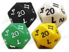 20-Sided Polyhedral Dice (set of 4)