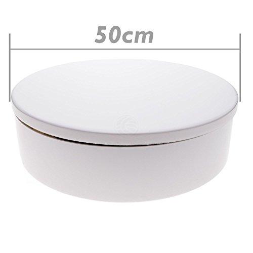 Cablematic - Plateau tournant electrique d50cm h6cm blanc