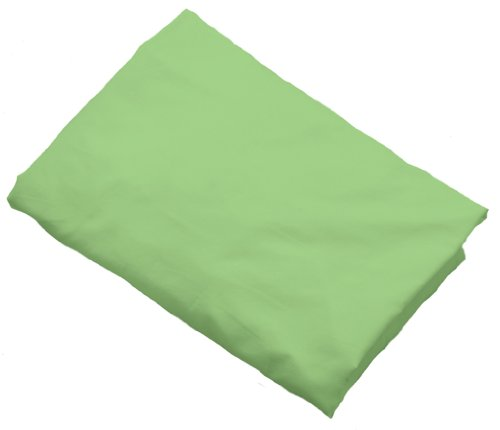 I Play Organic Knit Crib Sheet, Sage front-1034982
