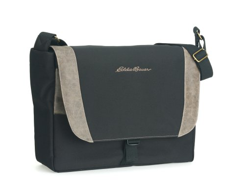Eddie Bauer EBCH20-BRN 15.4″ Channel Series Laptop Messenger Bag – Black with Brown