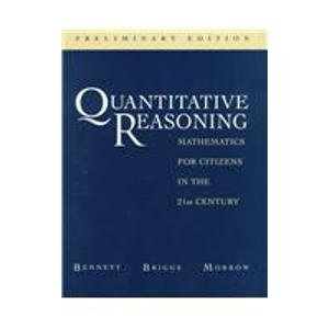Quantitative Reasoning: Mathematics for Citizens in the 21st Century