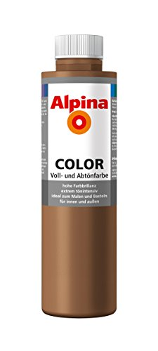 Alpina Farben Voll und Abtönfarbe Wandfarbe Alpina Color Farbton Candy Brown 750 ml